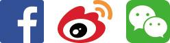 Facebook, Weibo, WeChat