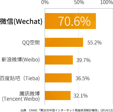 中国の SNS 利用率